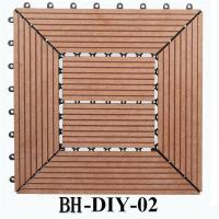 Wholesale Durable Plastic Base Deck Tile Wood Plastic Composite Deck Tile DIY from china suppliers