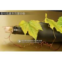 Etched Glass Wine Bottles With Oil-sand effect