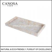 Wholesale Bathroom Accessory River Shell Amenity Tray for Hotels from china suppliers