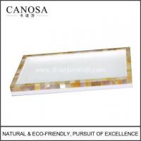 Wholesale Bathroom Accessories Golden Mother of Pearl Trays from china suppliers