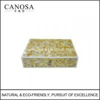 Wholesale Handmade Golden Mother of Pearl Seashell Bathroom Amenity Box from china suppliers