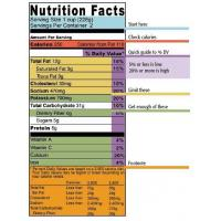 Wholesale examples of food labels Food Label For Low Temperature from china suppliers