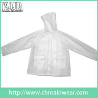 Buy cheap Clear Transparent PVC Womens Lightweight Rain Jacket Ladies Rainwear from wholesalers