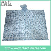 Wholesale Wholesale customization Printed PVC Emergency Motorcycle Rain Gear Poncho Raincoat from china suppliers