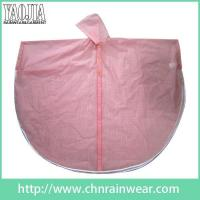 Wholesale Batch customization Pink Women Toddler Work PVC Plastic Rain Cape Ponchos Gear from china suppliers