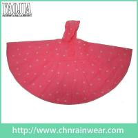 Wholesale Wholesale customization Durable Lightweight Womens PVC Red Rainponcho Rain Poncho from china suppliers