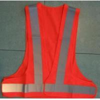 Wholesale Red LED Reflective Security Fluorescent Safety Vest Clothing from china suppliers