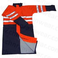Buy cheap Rainwear Waterproof With Reflective Strip PU Raincoat from wholesalers