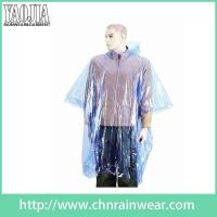 Buy cheap Rainwear Promotional Transparent Disposable PE Rain Poncho from wholesalers