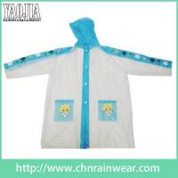 Buy cheap Rainwear Lastest Design Cartoon Children PVC Raincoat / Kids Cute Raincoat from wholesalers