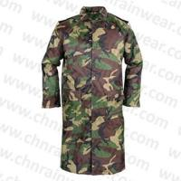 Buy cheap Rainwear PVC Waterproof Woodland Camouflage Raincoat With Button Style from wholesalers