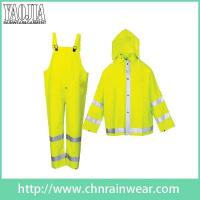 Buy cheap Packable Green Yellow Motorcycle Safety Rain Suit Coat Jacket from wholesalers