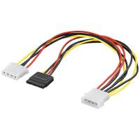 Wholesale SATA 15p cable PC Y-Power supply cable S-ATA 15 pin > 2 x 5,25 plug/jack from china suppliers