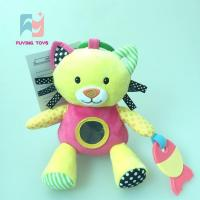 China Crinkle Paper Baby Plush Toys cat with mirror and toother on sale