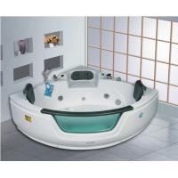 Wholesale Indoor Simple Triangle Acrylic Air and Whirlpool Hydrotherapy Jet Bathtub with Apron Panel from china suppliers