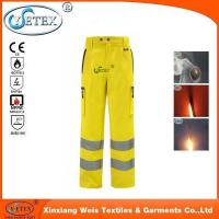 China Safety workwear Ysetex hi vis yellow high quality mens reflective pants on sale