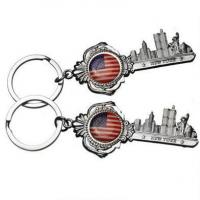 Wholesale Key Shape America Flag New York City Metal Keychains Souvenir SK-030 from china suppliers