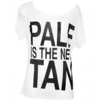 Wholesale PALE IS THE NEW TAN Ladies White T Shirt from china suppliers