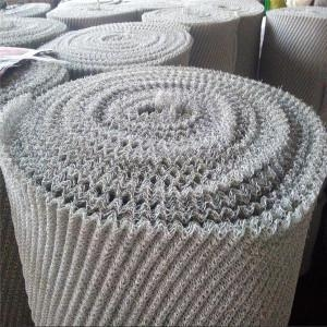 Quality flat and crimped knitted wire mesh fabric for sale