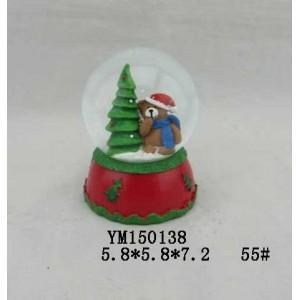 Quality Bear Polyresin 55mm Christmas Waterglobe for sale