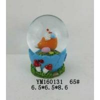 Wholesale Chicken Polyresin 65mm Easter Waterglobe With Egg Base from china suppliers