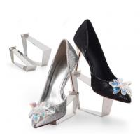 China High-heeled Shoes Display Shelf Stainless Steel Shop Window Display Footwear Props on sale