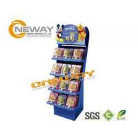 Buy cheap Snacks Child Food Corrugated Cardboard Display Stands Free Design from wholesalers