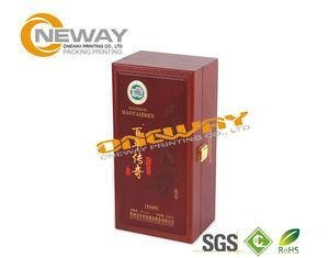 China Storage Wine Packaging Boxes / Hot Stamping Wooden Wine Gift Boxes