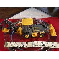 China Diecast Farm Construction Ertl John Deere Loader Backhoe Gray/Yellow 1/64 on sale