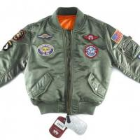 Buy cheap Men Alpha Industries Youth MA-1 Jacket w/Patch from wholesalers