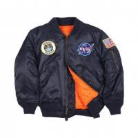 Buy cheap Men Alpha Industries Youth NASA MA-1 Jacket, Replica Blue from wholesalers