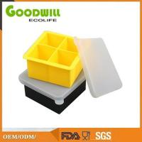 Wholesale Colorful Custom 4 Cavity Silicone Ice Cube Tray With Lid, Ice Cream Maker from china suppliers
