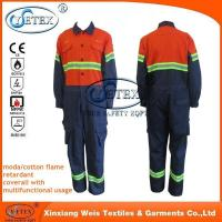 China Safety clothing Chemical treated durable fire retardant fire proof overalls workwear on sale
