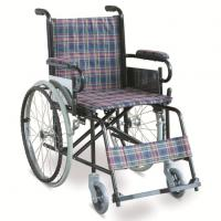 Wholesale #JL868 - Economic Manual Wheelchair With Dual Cross Brace & PE Foot plates from china suppliers