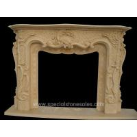 Light Beige Marble Stone Fireplace Design UK Designs Ideas for sale
