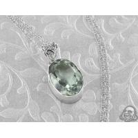 Buy cheap Green amethyst and silver necklace from wholesalers