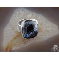 Buy cheap Silver and pietersite ring from wholesalers