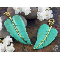 Buy cheap Solid brass and synthetic turquoise leaf weights from wholesalers