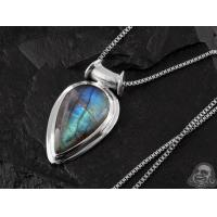 Buy cheap Labradorite and silver necklace from wholesalers