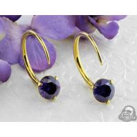 Buy cheap Solid brass Tsabit design with faceted purple glass from wholesalers
