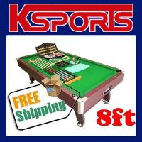 China PUB SIZE POOL TABLE 8FT SNOOKER BILLIARD TABLE GRE on sale