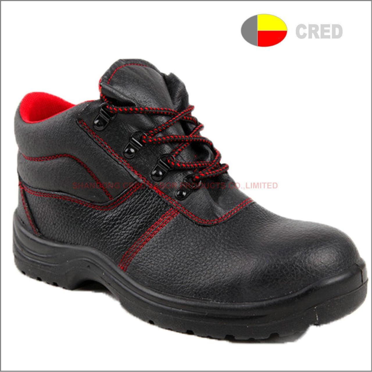 Buy cheap PU sole safety shoes T072 genuine leather safety work shoes from wholesalers