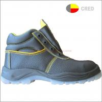 Buy cheap PU sole safety shoes T209 leather steel toe safety footwear from wholesalers