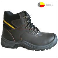 Buy cheap PU sole safety shoes T210 fashion genuine leather safety boots from wholesalers