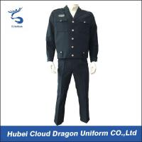 Buy cheap Comfortable Custom Navy Tactical Security Guard Uniform With Permanent Collar Stays from wholesalers