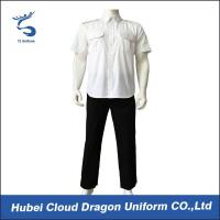 Buy cheap Short Sleeve Poplin Cool Security Staff Clothing Custom Brand Label from wholesalers