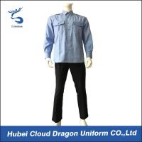 Buy cheap Breathable Blue Long Sleeve Security Shirt Uniform For Security Guards from wholesalers