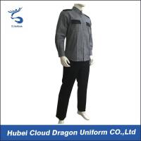Buy cheap Grey Black Security Guard Uniform For Hospital / Airport / Hotel Guards from wholesalers