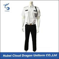 Buy cheap Men Security Guard Uniform Full Set For Hotel / Airport / Station Protection from wholesalers