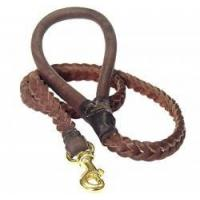 China Braided Leather Dog Leash 4 foot-Braided Lead walking dogs on sale